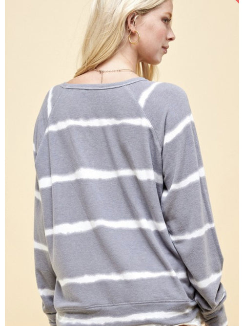 THE JANICE STRIPED SWEATSHIRT TOP