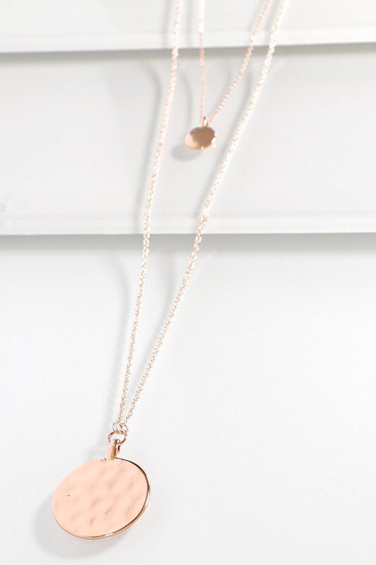 THE HAMMERED MULTI STRAND NECKLACE