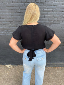THE SHANNON CROP TIED WAIST TOP