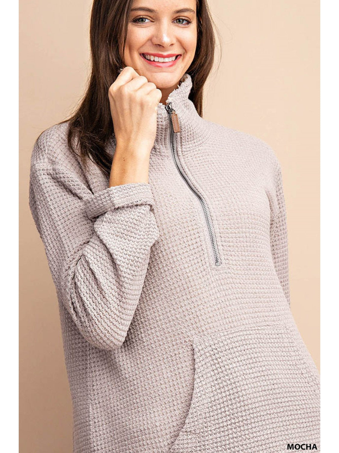 THE TAYLA WAFFLE KNIT TOP