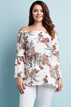 Load image into Gallery viewer, FLORAL BELL SLEEVE TOP - 3 COLORS
