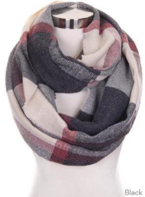 PLAID INFINITY SCARVES - 2 colors