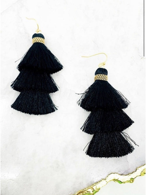 TIERED TASSLE EARRINGS
