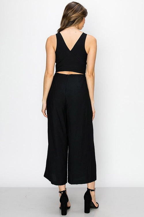 THE SUE CROPPED JUMPSUIT