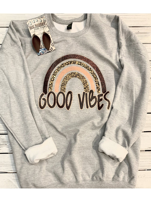 GOOD VIBES GRAPHIC SWEATSHIRTS
