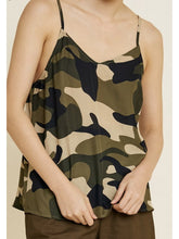Load image into Gallery viewer, THE CHRISTINA CAMO CAMISOLE