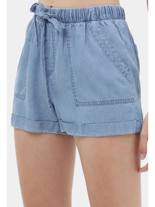THE EBBA WAISTBAND TENCEL SHORTS