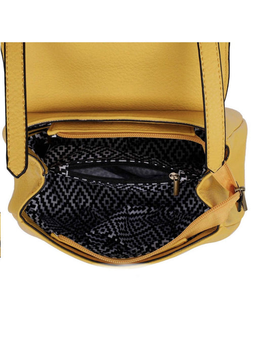 THE LINDA SATCHEL - mustard