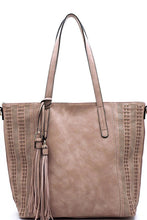 Load image into Gallery viewer, THE JACKIE LASER CUT TASSEL BAG
