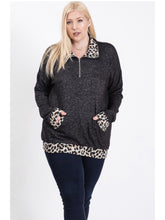 Load image into Gallery viewer, THE GAIL LEOPARD ZIP UP