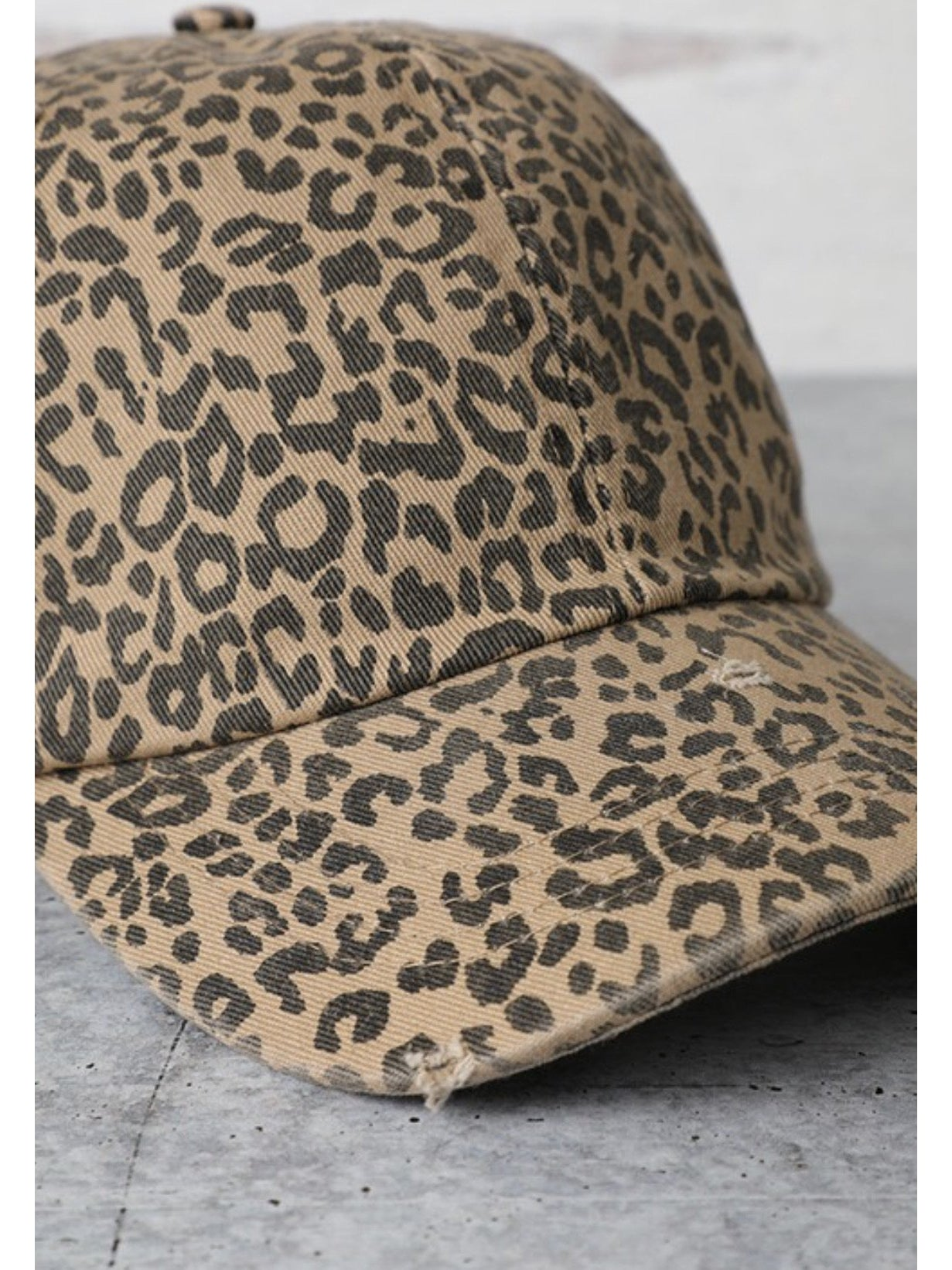 THE CANVAS LEOPARD HAT