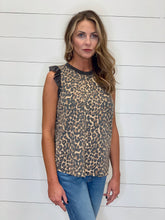 Load image into Gallery viewer, THE GRETCHEN ANIMAL PRINT RUFFLE SLEEVELESS