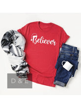 Load image into Gallery viewer, THE BELIEVER CHRISTMAS GRAPHIC TEE