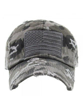 Load image into Gallery viewer, THE FLAG HAT - grey camo