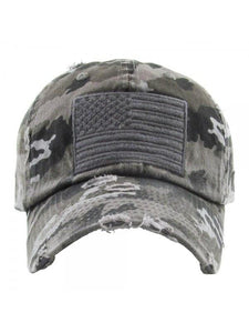 THE FLAG HAT - grey camo