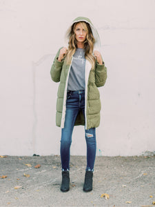 THE POLA SHERPA LINED COAT - 2 colors