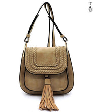 Load image into Gallery viewer, TASSEL SADDLE CROSSBODY BAG - 3 colors