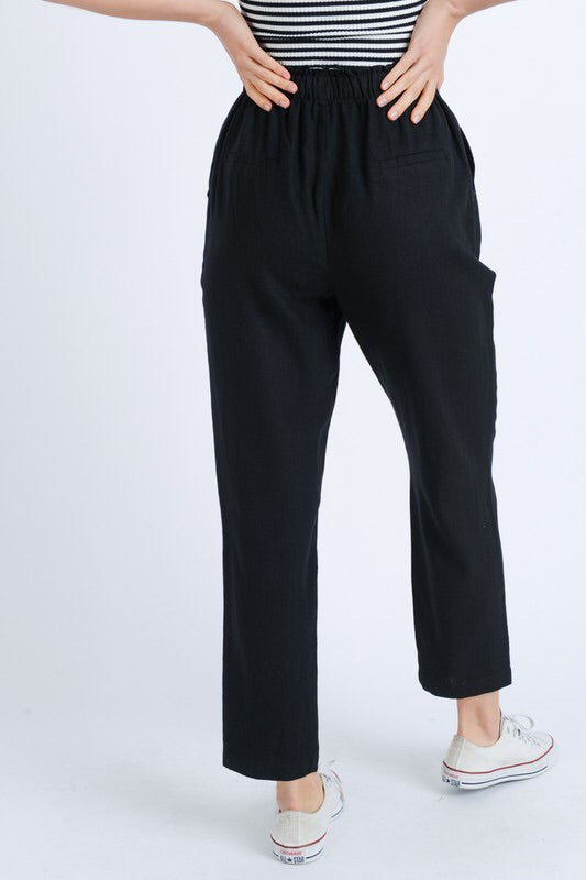 THE EMMA LINEN BLEND PANTS