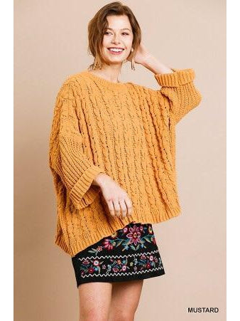 THE GABBY CABLE KNIT PULLOVER SWEATER