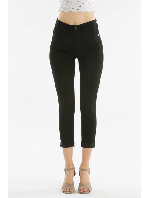 THE JOAN CROPPED BLACK DENIM