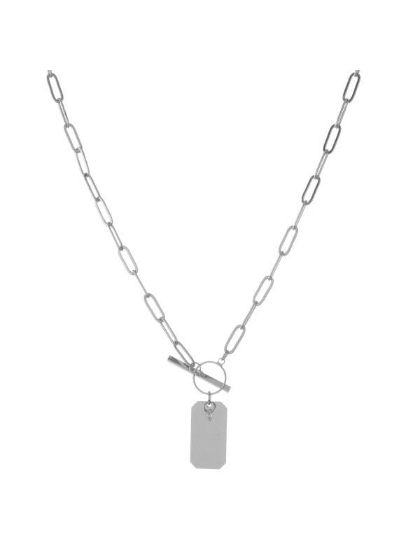 THE METAL CHAIN LINK PENDANT NECKLACE