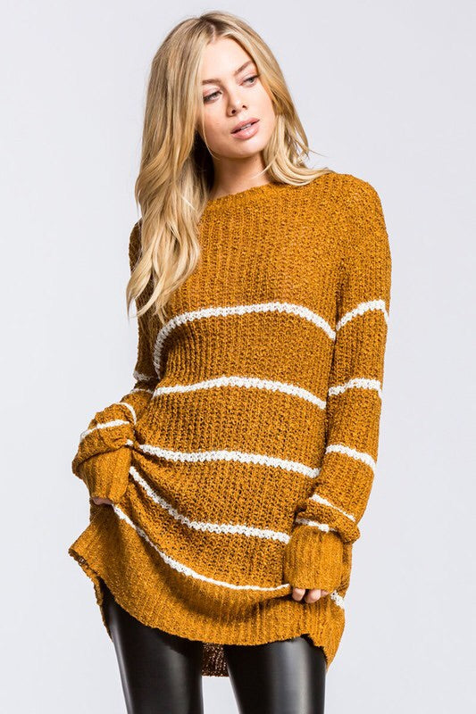 PERFECT STRIPED SWEATER - 2 colors