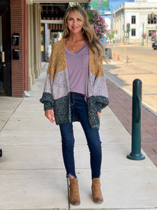 THE CARRIE COLORBLOCK SOFT CARDIGAN