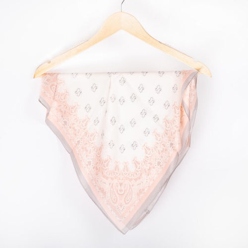 PINK & GREY PAISLEY SCARF