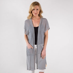 THE DAWN STRIPED KIMONO CARDI - 2 colors