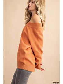 THE AVA OFF THE SHOULDER SWEATER