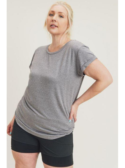 THE CHARLIE ESSENTIAL ROUND NECK CAP SLEEVE TOPS - 3 colors