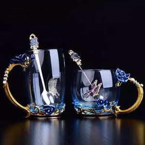 (Pre-order) BLUE ROSE tea cup & spoon