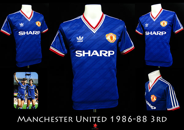 fe15a3a5f6e The Red Devils of Manchester United have used a blue shirt for many a  decade. The first time United wore a blue shirt as second choice apparel  was in 1906.