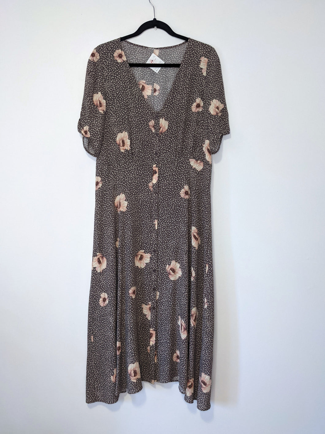 Floral neutral dress - Large