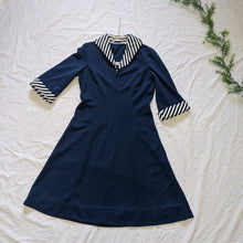 Load image into Gallery viewer, 1970's striped collar a line dress - Med