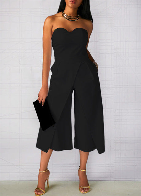 fc9ab2b86419 Off the Shoulder Split Front Dressy jumpsuit – TheBossLadyStore