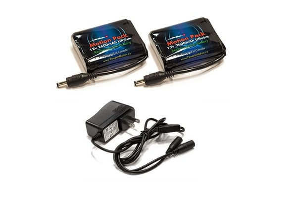 12V 2600mAh Lithium Rechargeable Battery/ Charger Combo