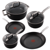 Tefal ProGrade 5 Piece Non Stick Induction Cookware Pan Set w/ Lid