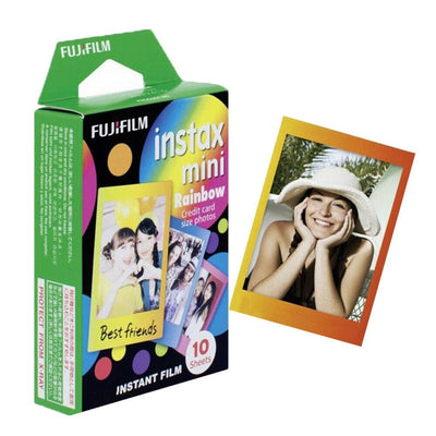 Fujifilm Instax Mini Rainbow Film - Pack of 10 Sheets