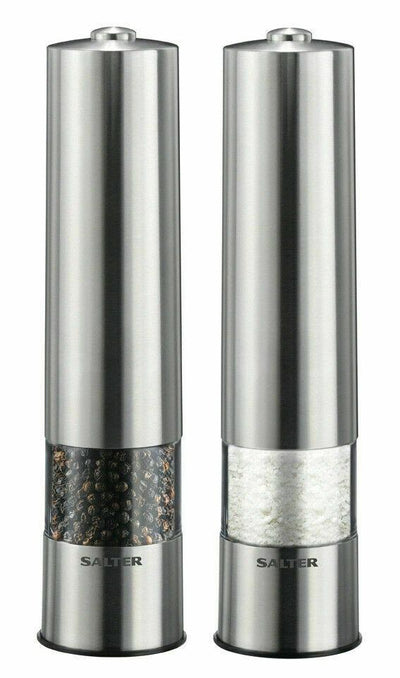 Salter Electric Salt and Pepper Mill Grinder Set with Light