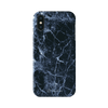 Navy Blue Marble Matte iPhone X Case - Dreamers Circle