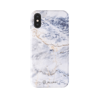 Ocean White Marble Matte iPhone Case