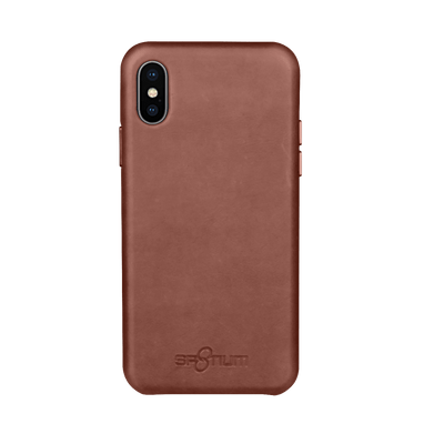Sp8tium iPhone X Dark Brown Leather Case - Dreamers Circle