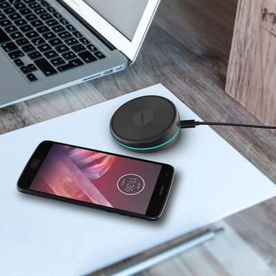 Lenovo Rotating Qi Wireless Charging Pad W03 in Black - Dreamers Circle