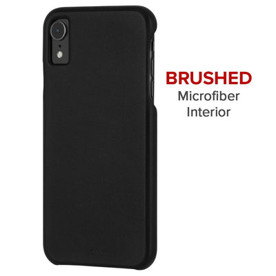 Case-Mate Barely There Leather Case for Apple iPhone XR in Black - Dreamers Circle