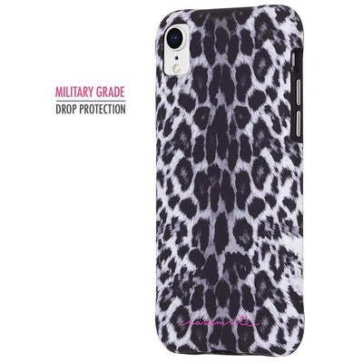 Case-Mate Wallpapers Case for Apple iPhone XR in Grey Leopard - Dreamers Circle