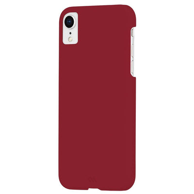 Case-Mate Barely There Leather Case for Apple iPhone XR in Cardinal - Dreamers Circle