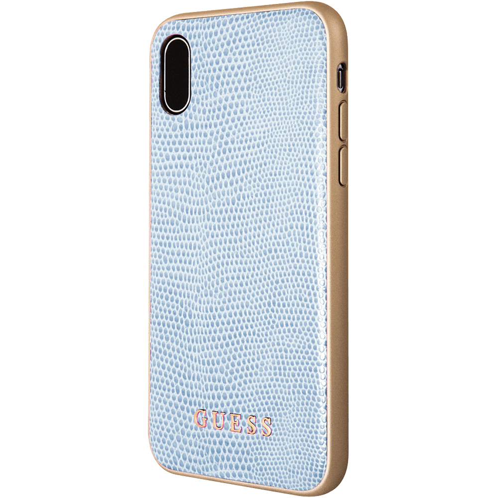 half off 89060 b4bd6 Guess Leather Python iPhone X & Xs Cover