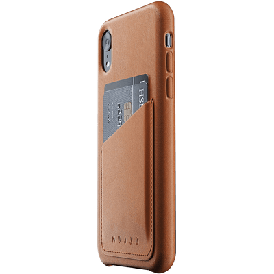 Mujjo Brown Leather iPhone XR Wallet Cover - Dreamers Circle