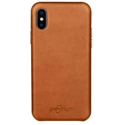 Sp8tium iPhone X & Xs Brown Leather Case - Dreamers Circle